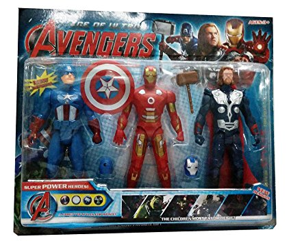 Shop & Shoppee Super heroes Super Power Heroes 3 in 1 Action Figure Set (Multicolor)