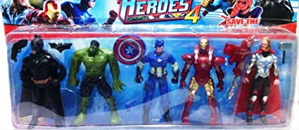 Shop & Shoppee Super Heroes Action Figure 5 In 1